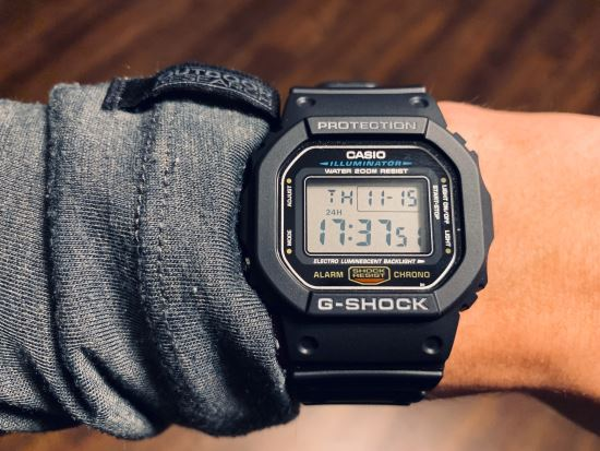 Casio DW5600E-1V on wrist
