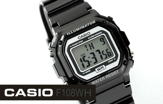 Casio F108WH close up