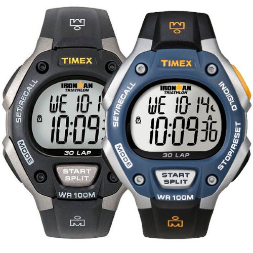 Pair of colorful Timex T5E901 watches
