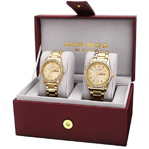 Akribos XXIV Mens and Womens Watch Matching Set