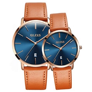 OLEVS His and Hers Couple Watches