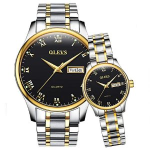 OLEVS Valentines Couple Pair Quartz Watches