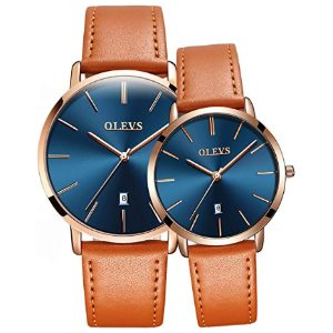 OLEVS Valentines Romantic His and Hers Quartz Analog Wrist Watches