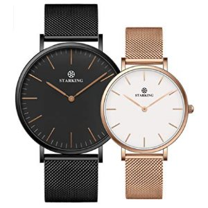 STARKING Womens Minimalist BML0997 Rose Gold Watch