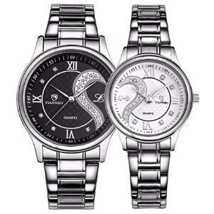 Valentines Romantic His and Hers Quartz Analog Wrist Watches Gifts Set
