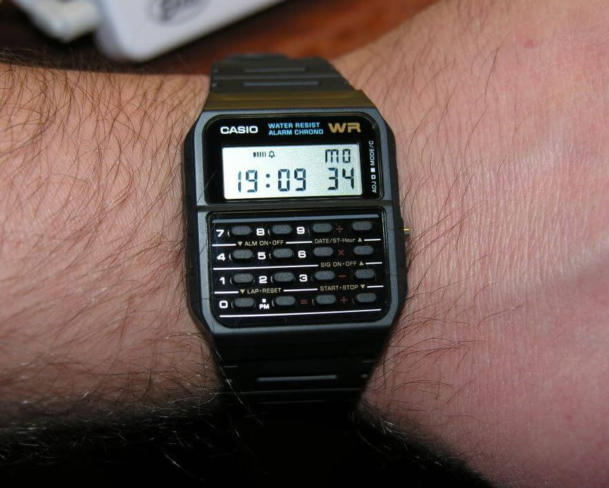 Casio CA53W-1 on wrist