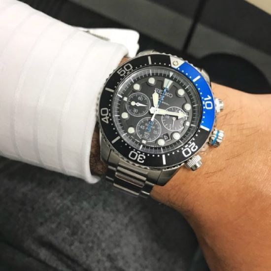Seiko SSC017 on wrist