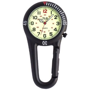 Paramedic Nurses Doctors Nite Glow Luminous Clip on Fob Watch