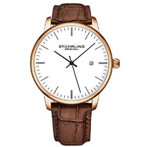 Stuhrling Original Mens Watch Calfskin Leather Strap