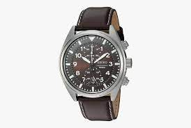 brown analog wrist watch with leather strap