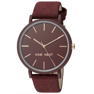 Nine West Round Rubber Strap Watch