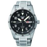 Seiko 5 Sports Automatic Black Dial Stainless Steel Mens Watch SRP513