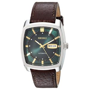 Seiko Mens Solar Recraft Stainless Steel Leather Strap Watch
