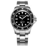 NEYMAR 44mm Mens 1000m Diver Japanese Automatic Sport Stainless Steel Watch