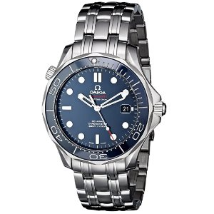 Omega Mens O21230412003001 Seamaster Analog Display Automatic Self-Wind silver-Tone Watch