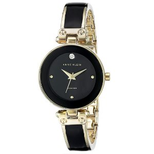 Anne Klein Womens Diamond-Accented Bangle Watch