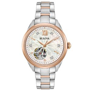 Bulova Womens Automatic Watch with Stainless-Steel Strap (Model 98P170)