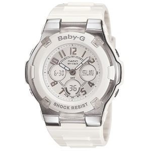 Casio Womens BGA110-7B Baby-G Shock-Resistant White Sport Watch