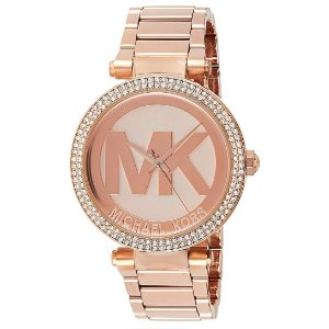 Michael Kors Womens Parker Gold-Tone Watch MK5865