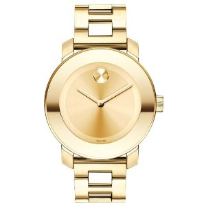 Movado Womens BOLD Iconic Gold Watch Model 3600085