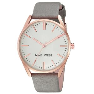 Nine West Womens NW-1994RGGY Strap Watch