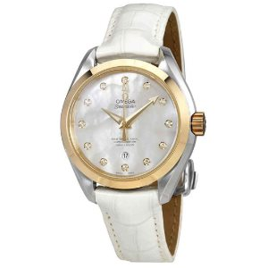 Omega Seamaster Aqua Terra Mother of Pearl Dial Ladies Watch 231.23.34.20.55.002