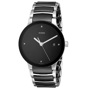 Rado Womens R30934712 Centrix Black Ceramic Bracelet Watch