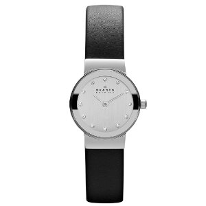 Skagen Womens Ancher Stainless Steel Mesh Dress Quartz Watch