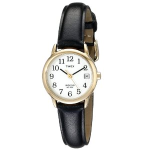 Timex Womens Indiglo Easy Reader Quartz Analog Leather Strap Watch