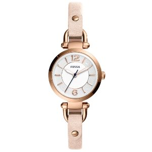 Fossil Womens Georgia Quartz Leather Casual Watch