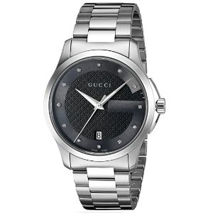 Gucci G-Timelss Silver-Toned Watch Model YA126456