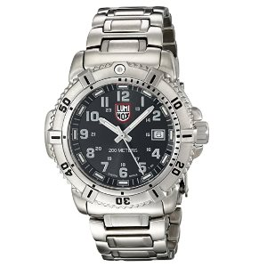 Luminox Womens 7252 Quartz Stainless Steel Black Dial Watch