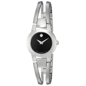 Movado Womens 604759 Amorosa Stainless Steel Bangle Watch