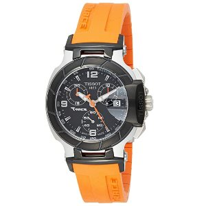 Tissot Womens T0482172705700 T-Race Orange Strap Watch
