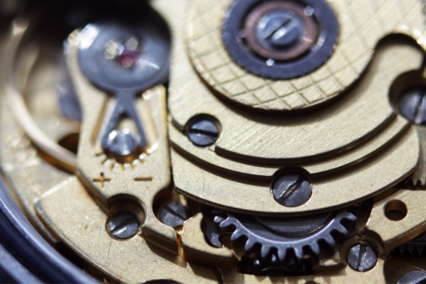 Close up of Automatic Watch Mechanism