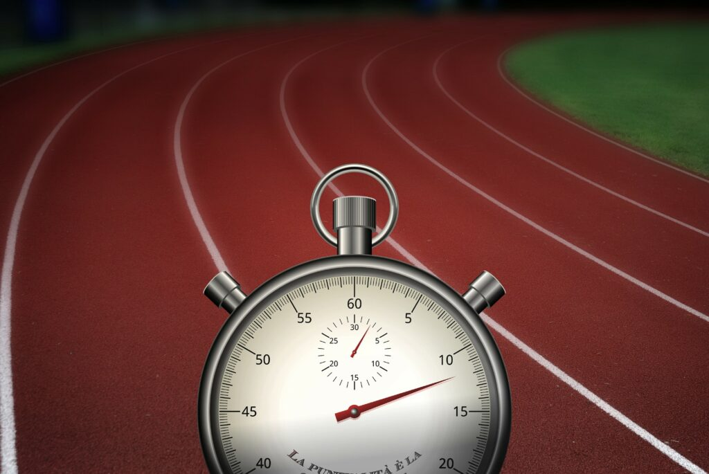 A traditional analog stopwatch may be all you need.