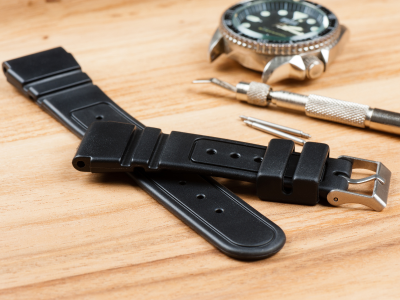 Watch band separated from watch